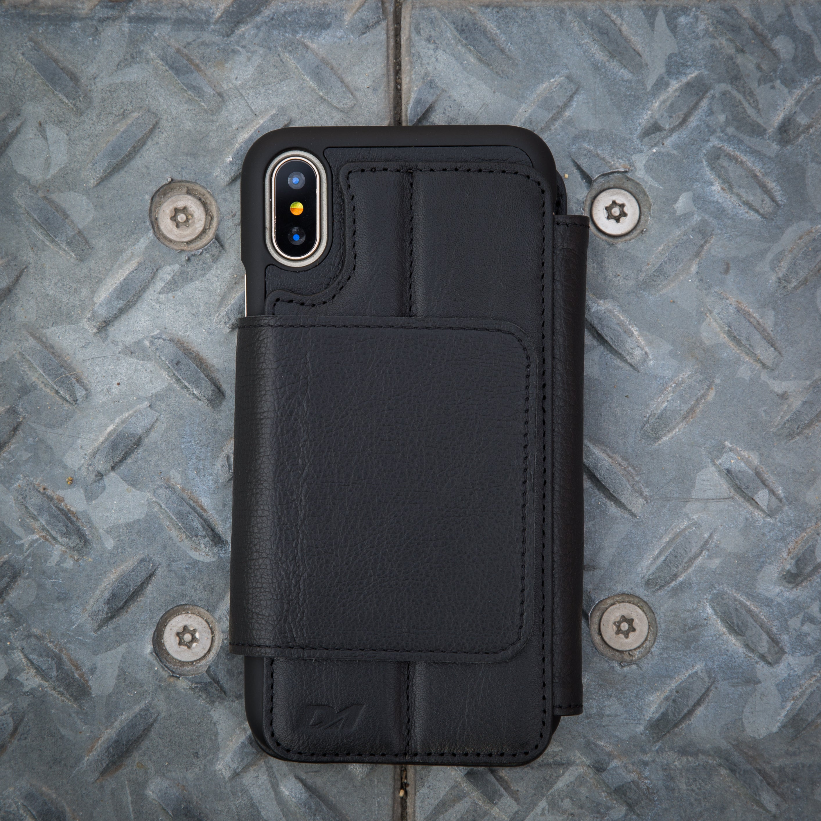 iphone x black wallet case