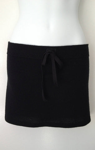 Cashmere Mini Skirt in Black