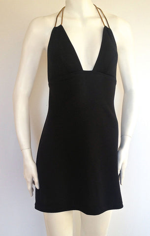 Halter Dress - Leather Ties