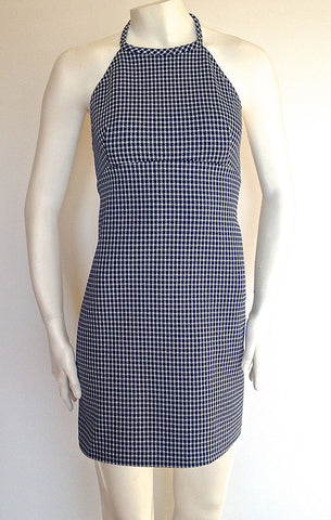 Blue Mod Houndstooth Dress