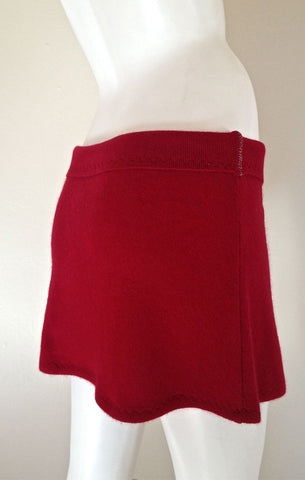 Chianti Cashmere Mini Skirt