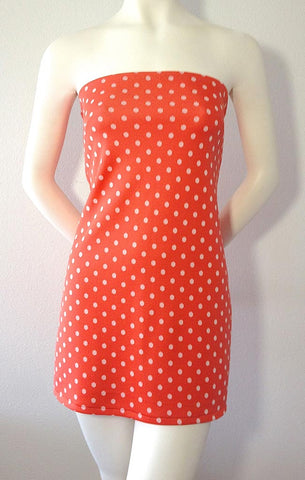 Coral Polka Dot Dress