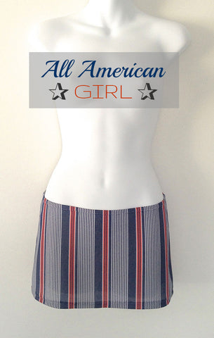 American Stripe Mini Skirt