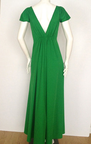 Seventies Green Maxi Dress