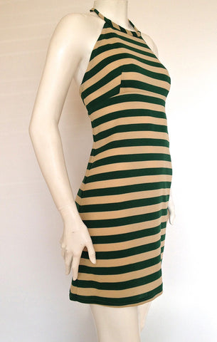 Mod Stripe Halter Dress