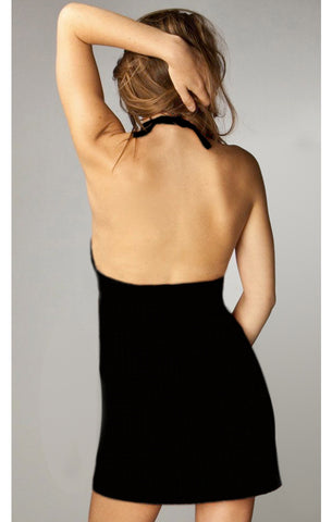 Basic Black Halter Dress
