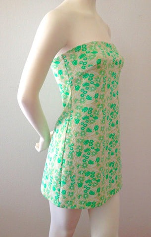 Mint Floral Mini Dress