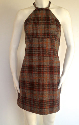 Mod Plaid Halter Dress