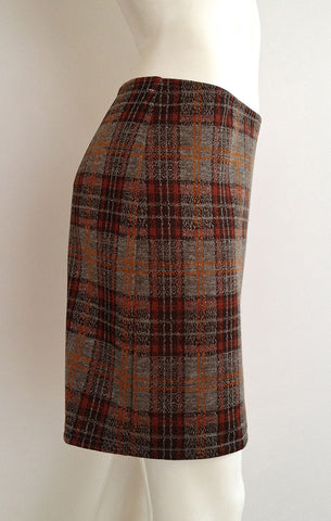 Plaid Pencil Skirt