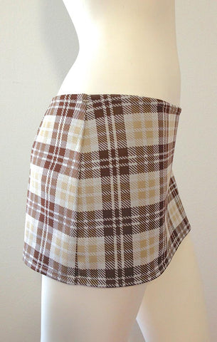 Mini Skirt Brown Plaid