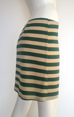 Emerald Stripe Pencil Skirt