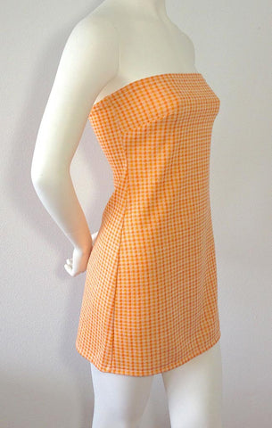 Tangerine Gingham Dress