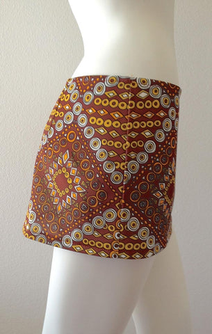 Spanish Tile Mini Skirt