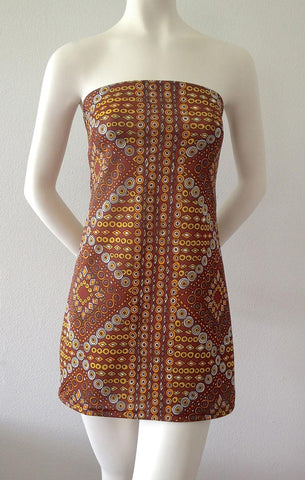 Spanish Tile Mini Dress