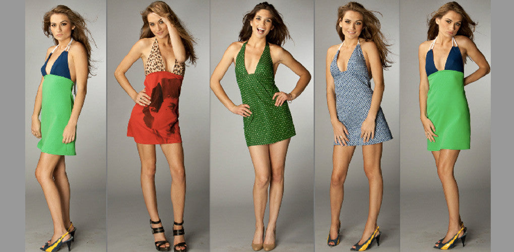 photo of models in bunny jackson dresses