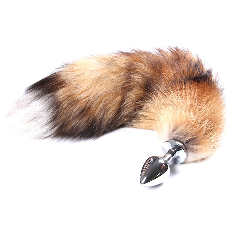 Stainless Steel Metal Anal Plug Fox Tail - Why Not Toys