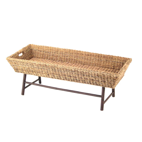 Padma's Plantation Basket  Weave Coffee Table