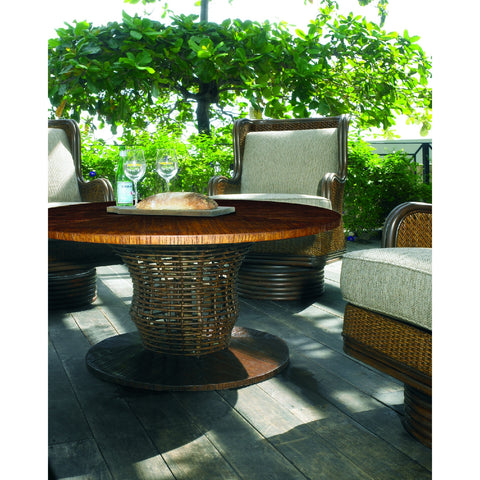 Padma's Plantation Crushed Bamboo Outdoor Table Top-48