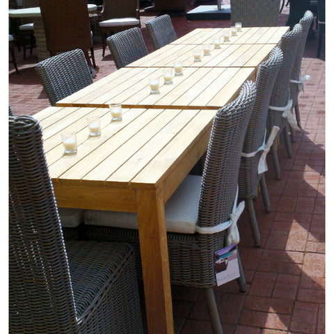 Padma's Plantation OUTDOOR RUSTIC TEAK DINING TABLE