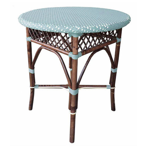 Padma's Plantation Paris Bistro Dining Table  - Blue Indoor or Outdoor