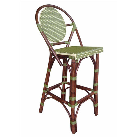 Padma's Plantation Paris Bistro Bar Stool - Green Indoor or Outdoor