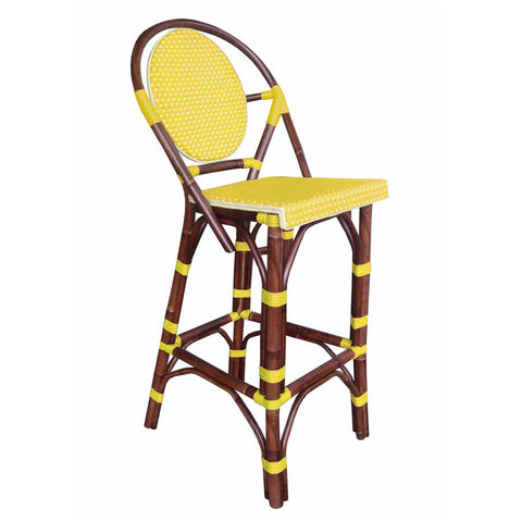 Padma's Plantation Paris Bistro Bar Stool - Yellow Indoor or Outdoor