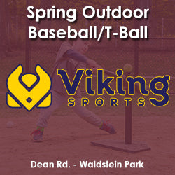 Early Spring - Monday 3:25 Baseball/T-Ball (Ages 4 & 5)