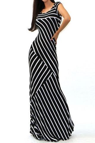 Crazy Stripes Maxi Dress