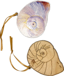 Moon Snail Shell Ornament (horizontal)