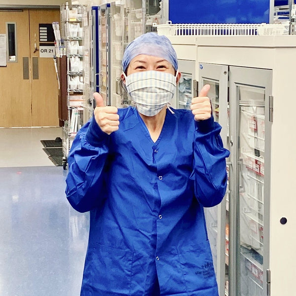 UCSF Nurse wearing CORDA face mask