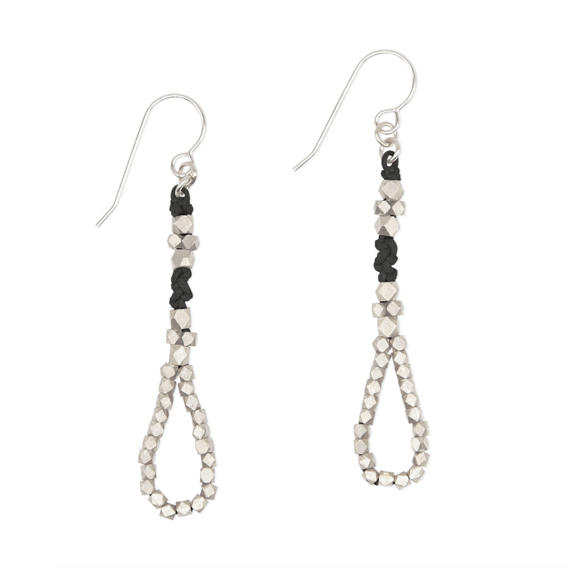 Ama Knotted Nugget Earrings  • Silver