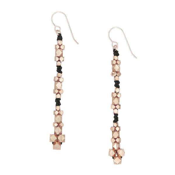 Ariadne Nugget Earrings • Black