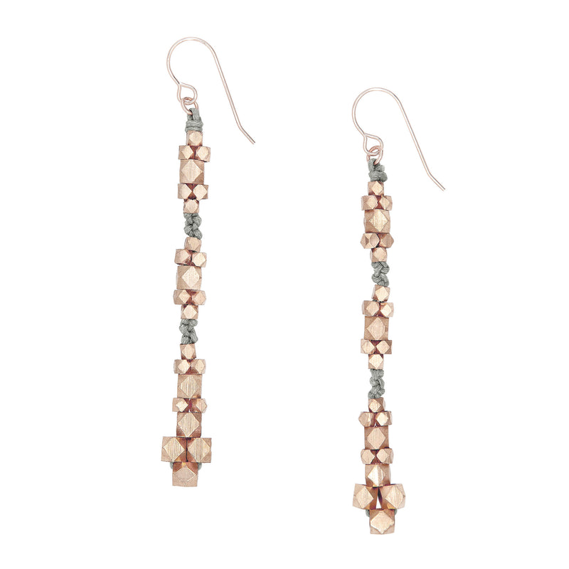 Ariadne Knotted Nugget Earrings • Rose Gold