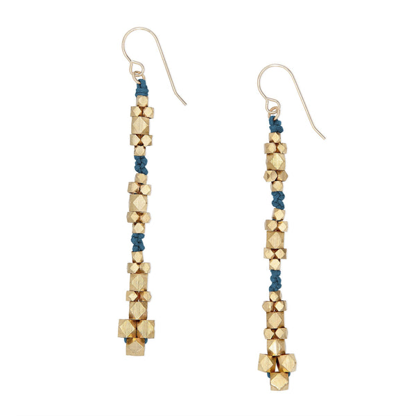 Ariadne Nugget Earrings • Indigo