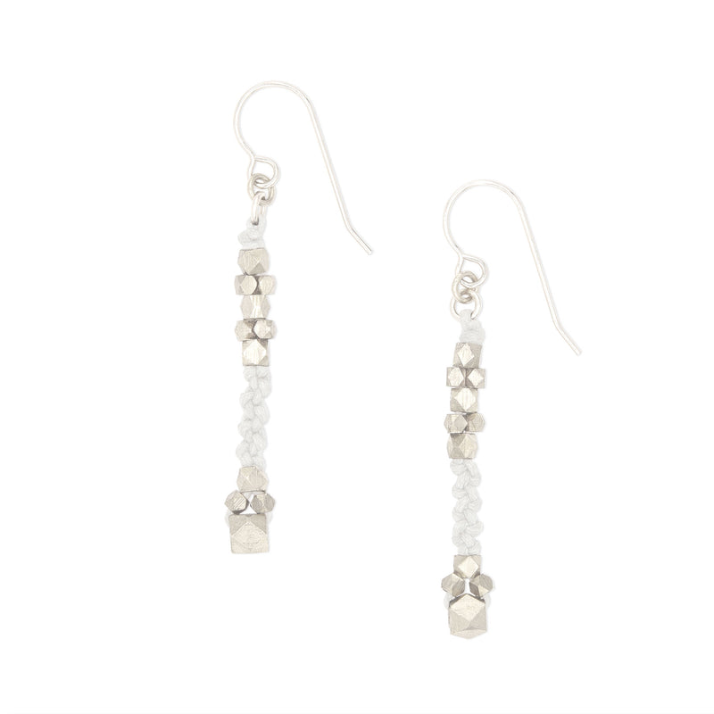 Bia Knotted Nugget Earrings • Silver
