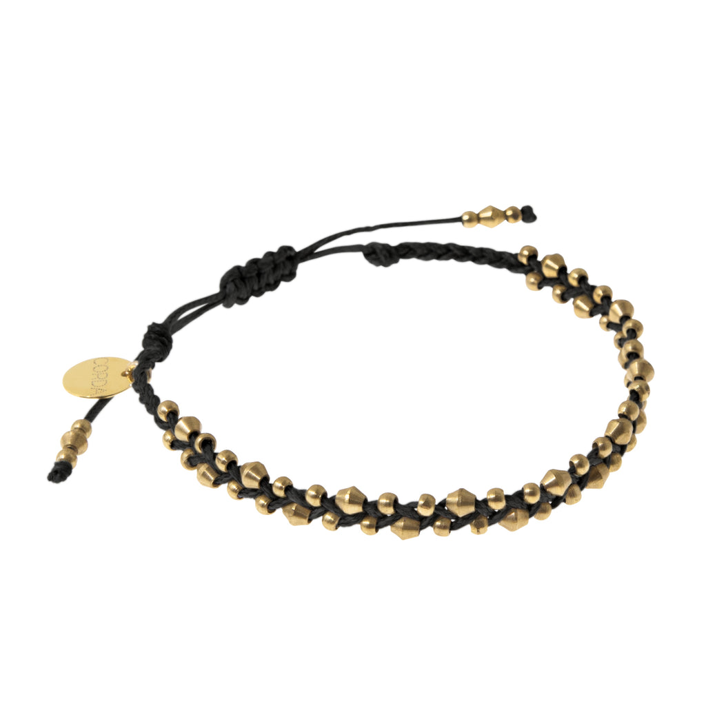Stellina Single Braided Bracelet • Black