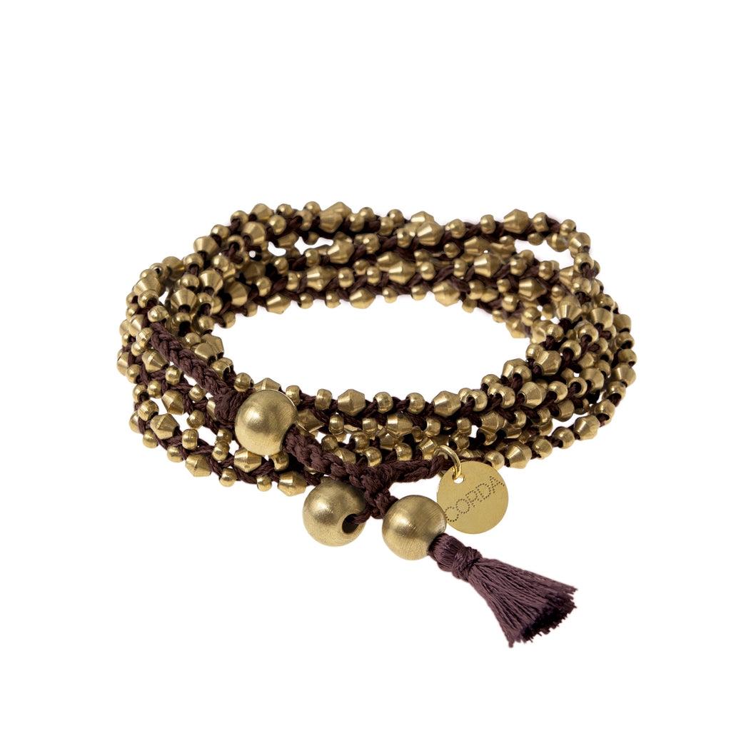 Stellina 3-in-one Wrap Bracelet/Necklace • Cacao