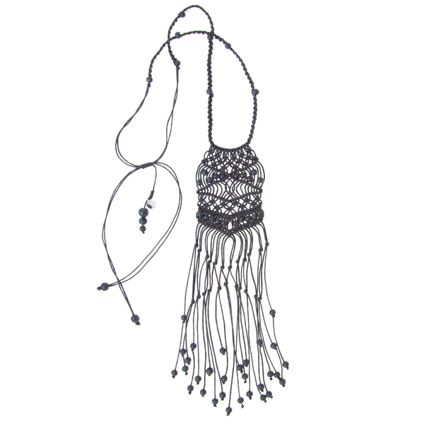 Bodicea Necklace • Charcoal Grey