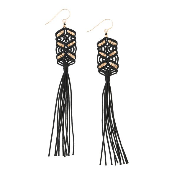 Maeve Tassel Earrings • Black