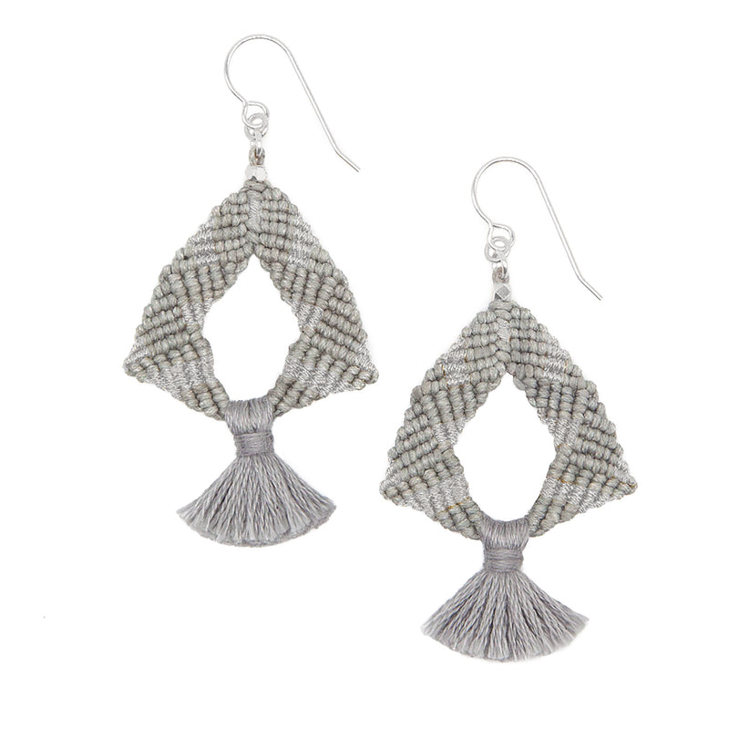 Iris Metallic Earrings • Silver