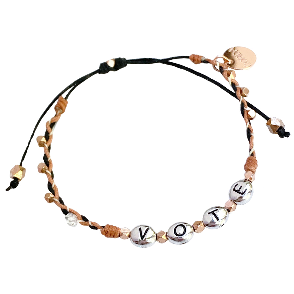 VOTE Bracelet • Rose Gold • Herkimer Diamond