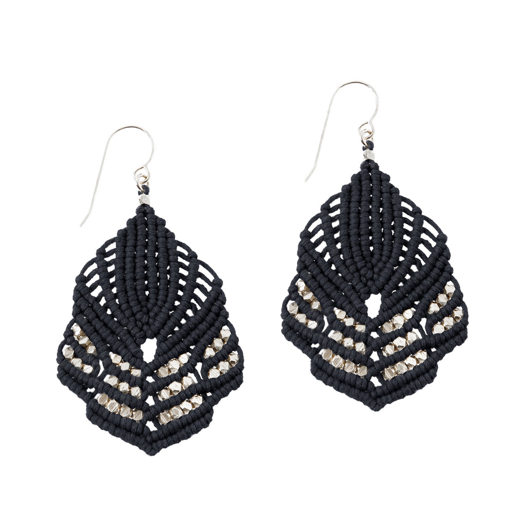 Hera Earrings - Black