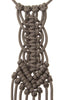 Paracorda Circular Square Knot Macrame Necklace • Taupe