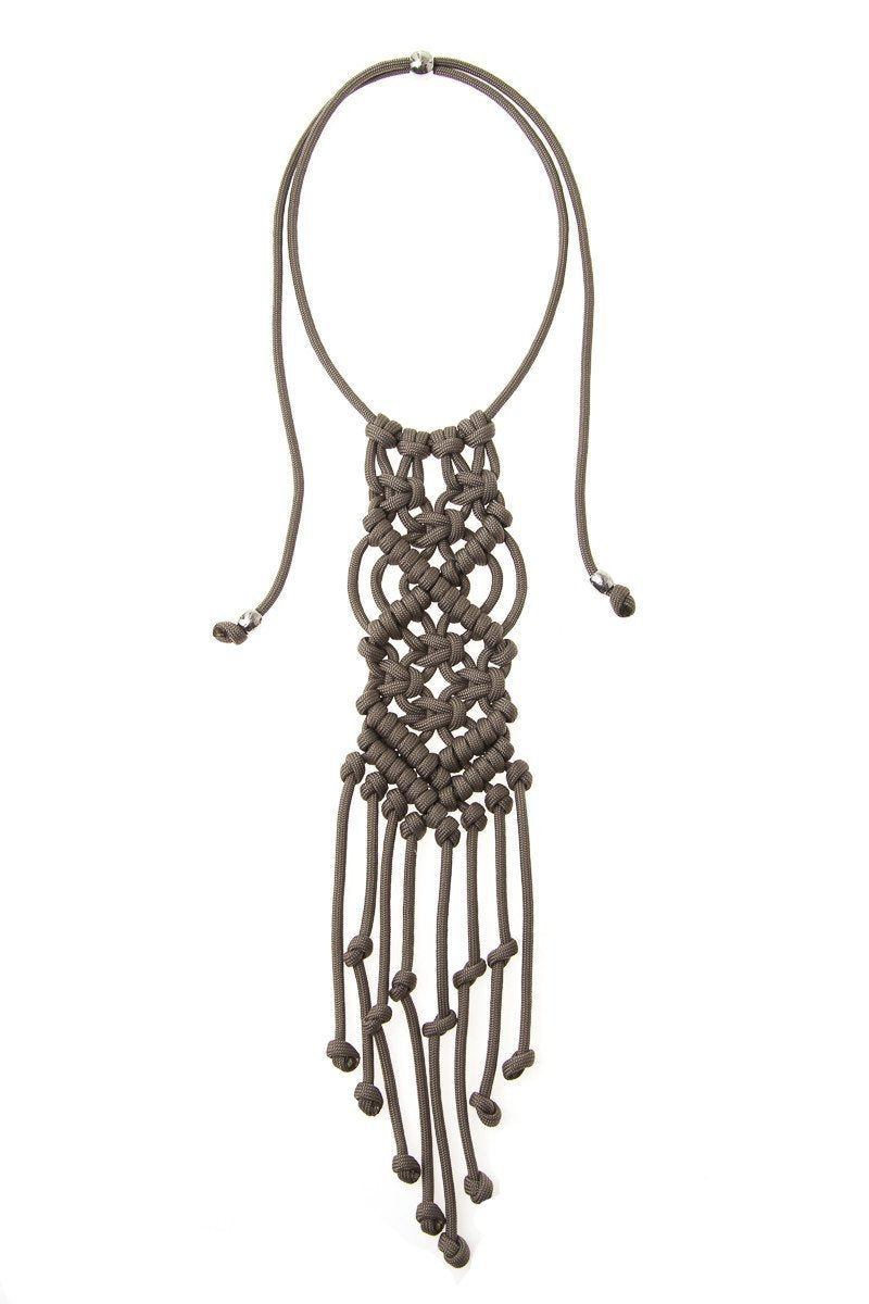Paracorda Rock Star Necklace • Taupe