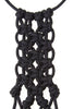 Paracorda Square Knot Macrame Necklace • Black
