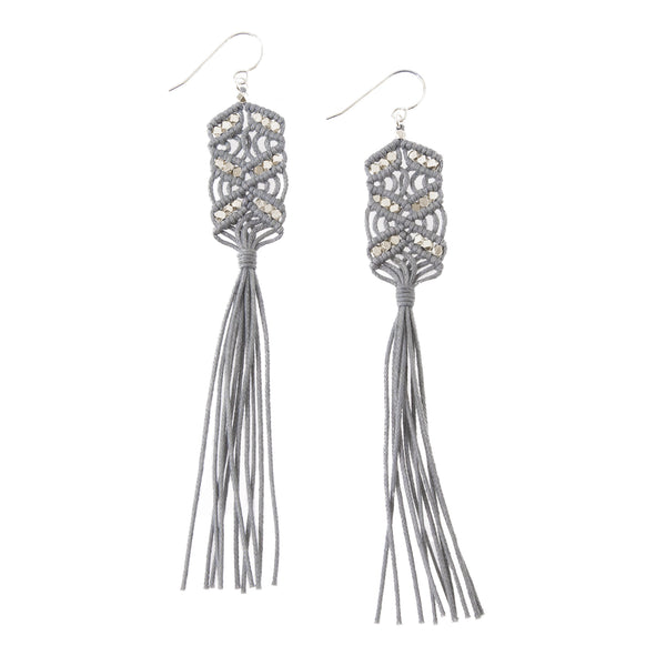 Maeve Tassel Earrings • Grey