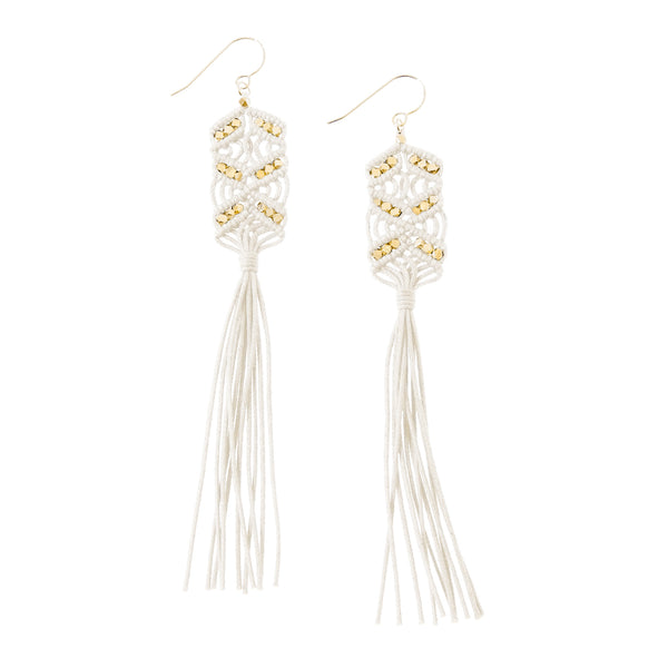 Maeve Tassel Earrings • Ivory