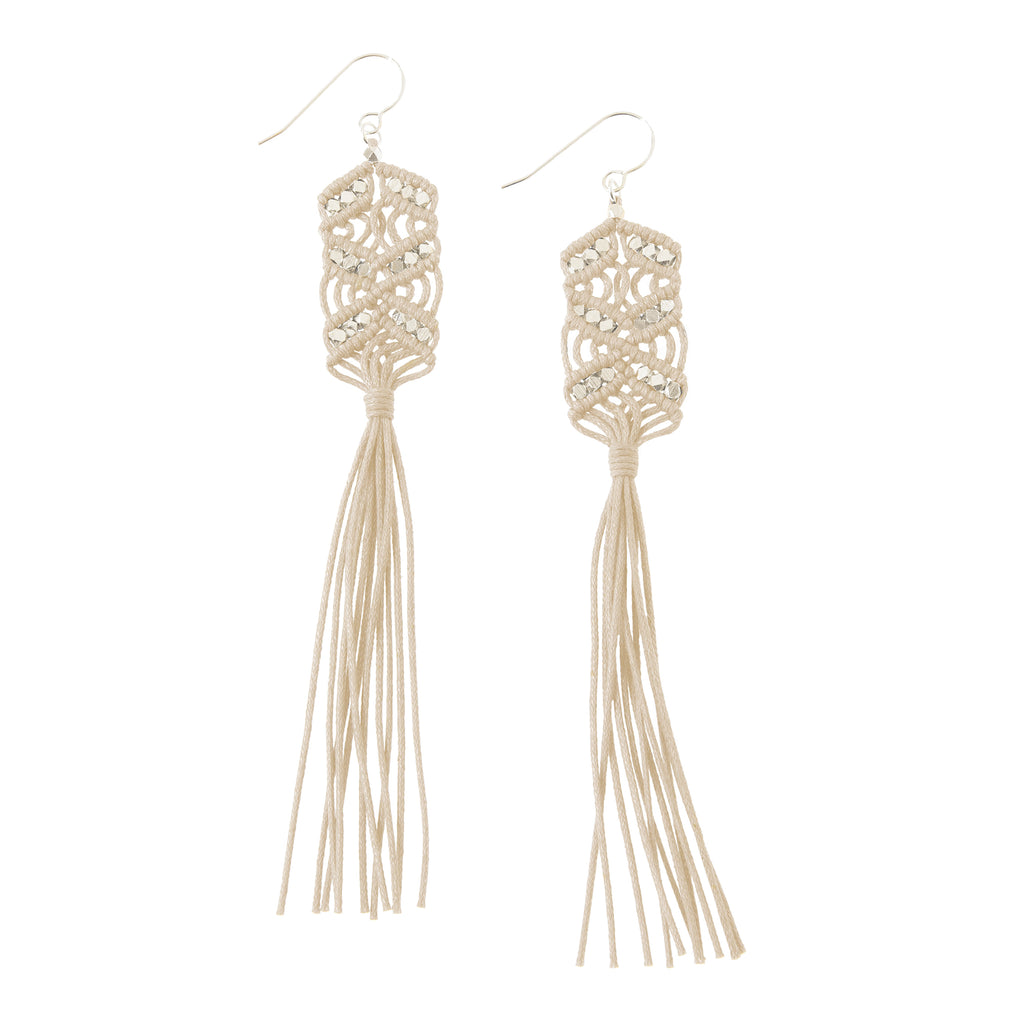 Maeve Tassel Earrings • Natural