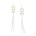 Maeve Tassel Earrings • White