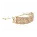 Tressa Statement Bracelet in Natural with Brass Beads worn on wrist